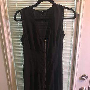 H&M Dresses - Black front zip dress